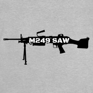 M249 SAW lumière design machinegun - T-shirt Bébé
