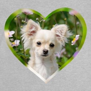 Chihuahua zoete puppy portret met hart - Baby T-shirt