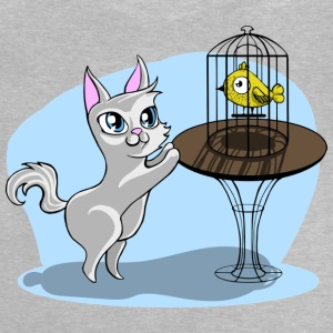 Cat and bird - Baby T-Shirt