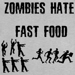 Zombies déteste fast food - T-shirt Bébé