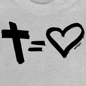 Cross = Heart BLACK // Cross = Love BLACK - Baby T-Shirt