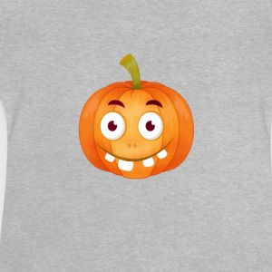 emoji citrouille Happy Thanksgiving t-shirt comique stup - T-shirt Bébé