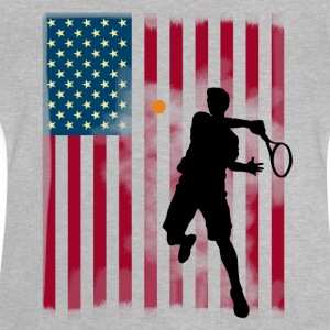 stjerne tennis os åbne Amerika flagg tibreak Player - Baby T-shirt