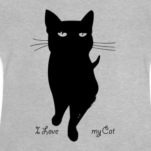 i_love_my_cat - Baby-T-shirt