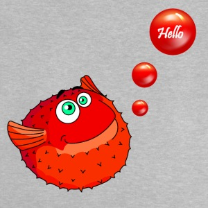 Cute Red Puffer Fish - T-shirt Bébé