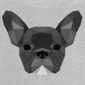 gris Low Poly Frenchie - T-shirt Bébé