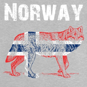 Nation-Design Noorwegen Wolf - Baby T-shirt