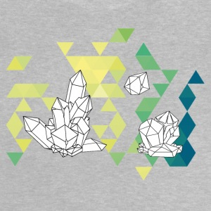 Crystal Tale geometric crystal triangle design - Baby T-Shirt