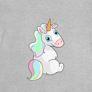 Unicorn möte - sittande Unicorn - Baby-T-shirt