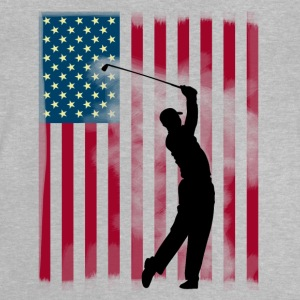 golf golfer bushland USA Team America flag spor - Baby T-Shirt