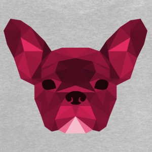 Low Poly Frenchie pink - Baby T-Shirt