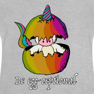 Unicorns er Egg-ceptional - Baby-T-skjorte