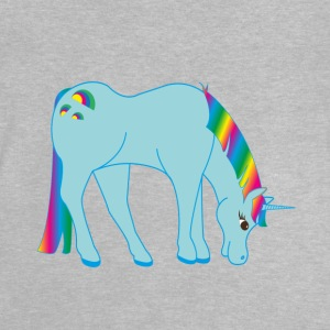 unicorn blå - Baby-T-shirt