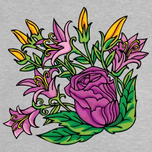 1purple blommor - Baby-T-shirt