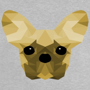 French Bulldog Low Poly Design gul - Baby-T-skjorte