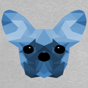 Fransk Bulldog Low Poly Design blå - Baby T-shirt