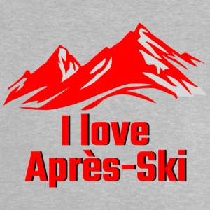 I LOVE APRES SKI red - Baby T-Shirt