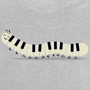 Caterpillar piano - Roligt - Baby-T-shirt