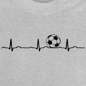 ECG HEARTBEAT le football noir - T-shirt Bébé