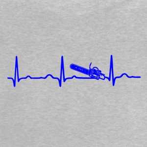 ECG HEARTBEAT CHAIN ​​BLUE blue - Baby T-Shirt