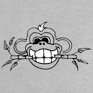 Bamboo Monkey whiteteeth - Baby-T-shirt