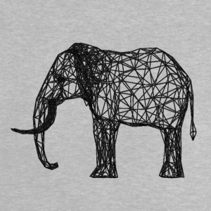techno Elephant - Baby-T-shirt