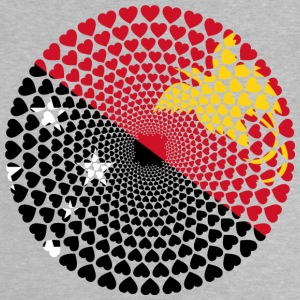 Papua New Guinea Papua New Guinea Love HEART Mandala - Baby T-Shirt