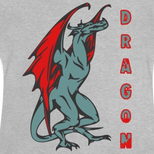 grand dragon couleur standign - T-shirt Bébé