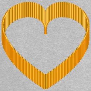Pixel 3D Heart Orange AllroundDesigns - Baby T-Shirt
