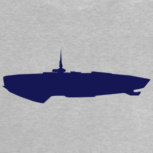 Spaceship vector Silhouette - Baby T-Shirt