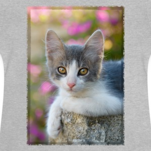 Cute gray-white kitten - Baby T-Shirt