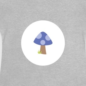Body_Pilz_blau - Baby T-shirt