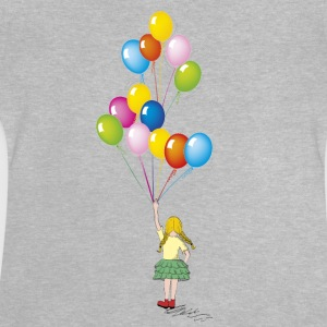 Little girl balloons - Baby T-Shirt