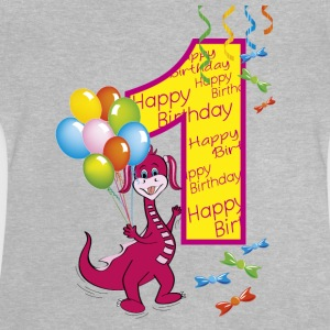 Happy Birthday 1 draghetta - Baby T-shirt