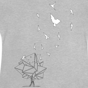 birds_baum_white / Fri som en fågel - Baby-T-shirt