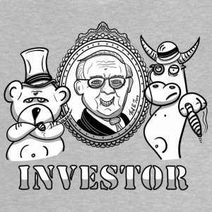 Bear and bull with Warren Buffet - real investors - Baby T-Shirt