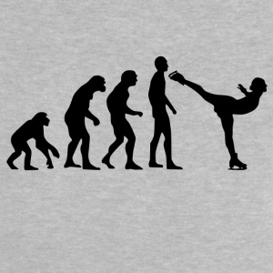Human Evolution Ice Skating - Baby T-Shirt