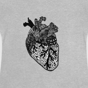 Heart, anatomi, Zentangle - Baby T-shirt