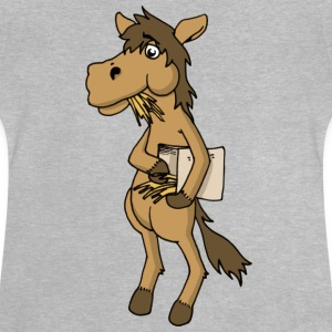 Cool horse horse Horse feed hay animal stable - Baby T-Shirt