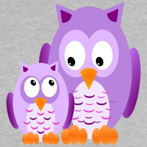 Owls - Lila - Baby-T-shirt