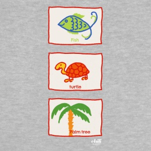 Fish, turtle, palm tree: vacation beach leisure - Baby T-Shirt
