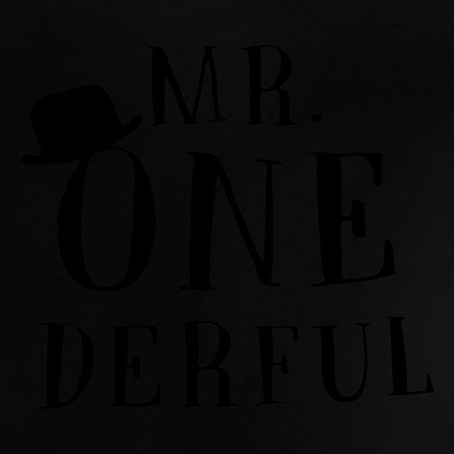 Black Design Mr Onederful