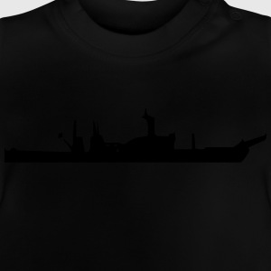 Vector Navy warship Silhouette - Baby T-Shirt
