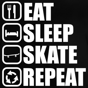 Eat sleep skate - skateboard - Baby T-Shirt