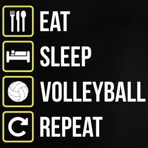 Eat Sleep Volleyball Gjenta - Baby-T-skjorte
