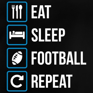 Eat Sleep American Football Repeat - Baby T-Shirt
