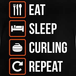 Eat Sleep Curling herhalen - Baby T-shirt