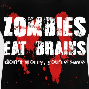 Zombies essen Gehirne - Baby T-Shirt