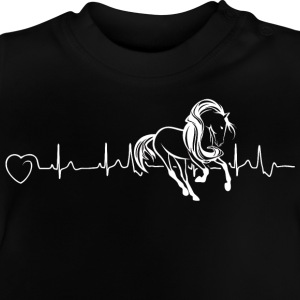 Horses are my heartbeat - Baby T-Shirt