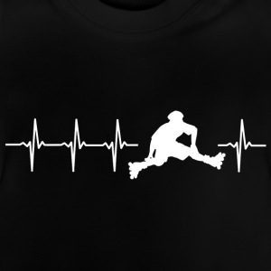 I love roller skating (skate heartbeat) - Baby T-Shirt
